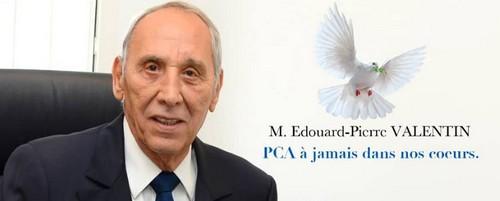 Obsèques de M. Edouard-Pierre VALENTIN, Président du Conseil d'Administration de la SCG-Ré.